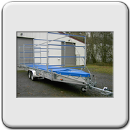 double axle trailer; 6 m